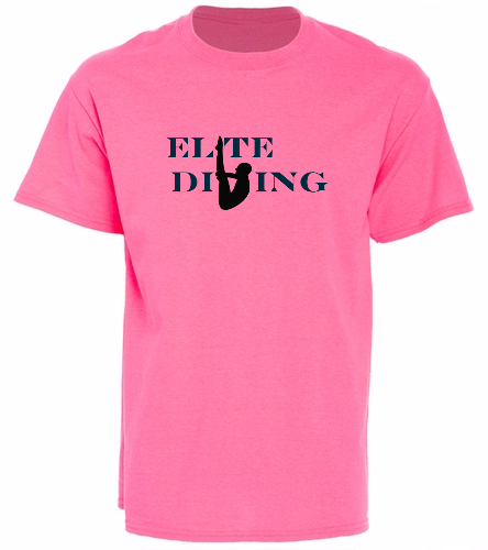 NEW Elite Tee - Neon Pink - SwimOutlet Unisex Cotton T-Shirt - Brights