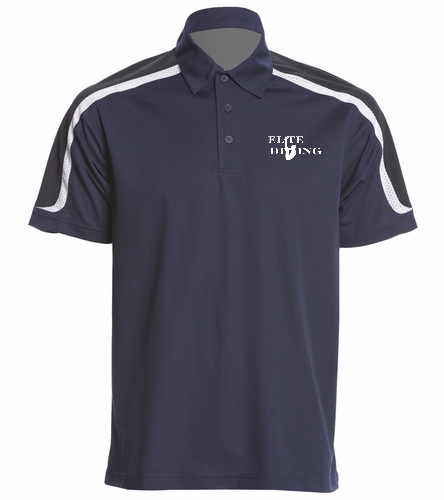 Elite Mens Coach Polo - SwimOutlet Men's Tech Polo