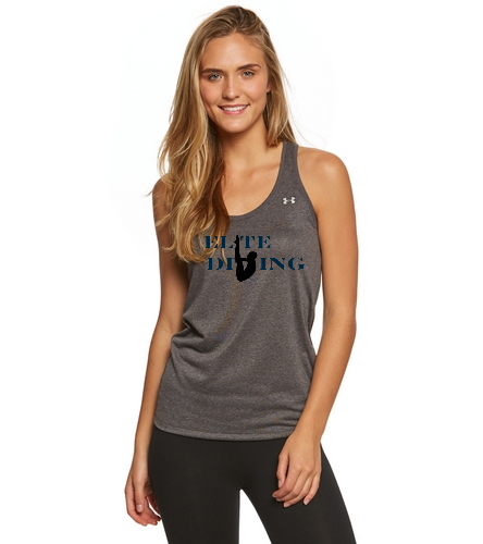UA Womens Tank Grey - Under Armour Women's UA Tech Tank - Under Armour Women's UA Tech Tank