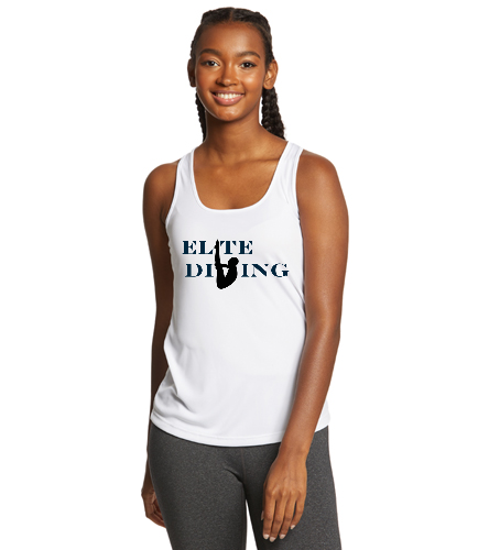 Womens Athletic Tank White - SwimOutlet Ladies PosiCharge® Competitor™ Racerback Tank - SwimOutlet Ladies PosiCharge® Competitor™ Racerback Tank