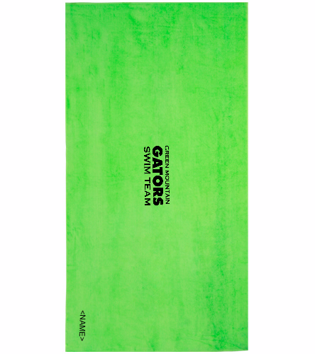 GMST Lime Green  - Royal Comfort Terry Velour Beach Towel 32 X 64