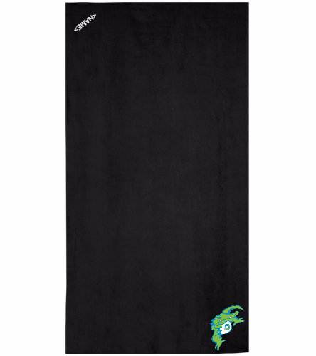 GMST Black  - Royal Comfort Terry Velour Beach Towel 32 X 64