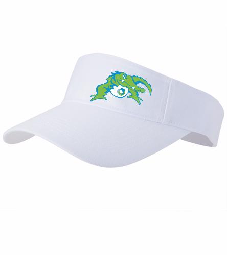 Visor- white with gator - SwimOutlet Custom Cotton Twill Visor