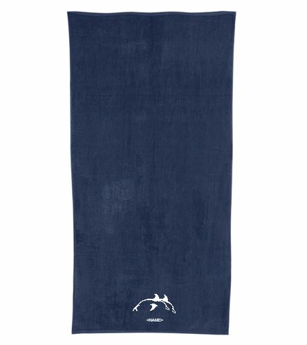 PPSC Navy - Royal Comfort Terry Velour Beach Towel 32 X 64