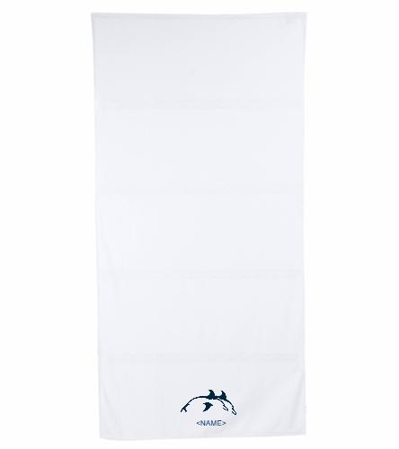 PPSC White - Royal Comfort Terry Velour Beach Towel 32 X 64