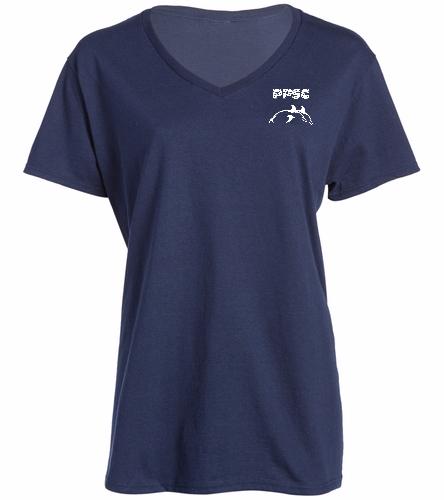 PPSC  - SwimOutlet Women's Cotton V-Neck T-Shirt