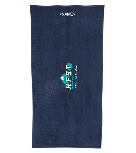 RFST Towel  - Royal Comfort Terry Velour Beach Towel 32 X 64