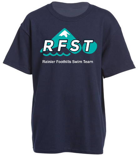 RFST Youth T-Shirt Navy - SwimOutlet Youth Cotton Crew Neck T-Shirt