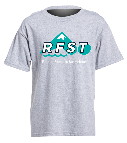 RFST T-Shirt Grey Youth - SwimOutlet Youth Cotton Crew Neck T-Shirt