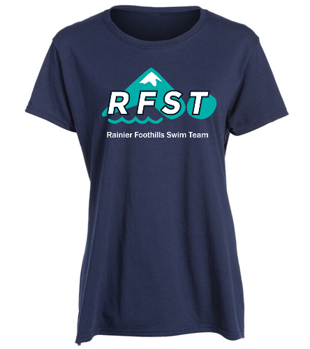 RFST Ladies T-Shirt Navy - SwimOutlet Women's Cotton Missy Fit T-Shirt