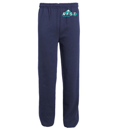 RFST Open Sweats - SwimOutlet Heavy Blend Unisex Adult Open Bottom Sweatpants
