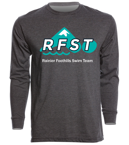 RFST Long Sleeve Charcoal - SwimOutlet Unisex Long Sleeve Crew/Cuff