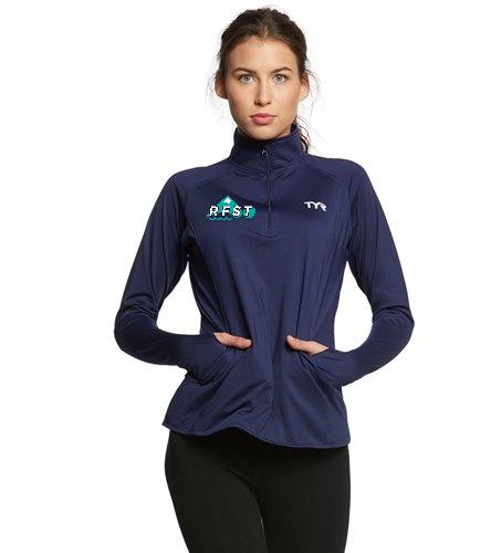 RFST 1/4 zip women's  - TYR Women's Alliance 1/4 Zip Pullover Warm Up Jacket