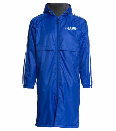 HSSB Adult Parka - Sporti Striped Comfort Fleece-Lined Swim Parka