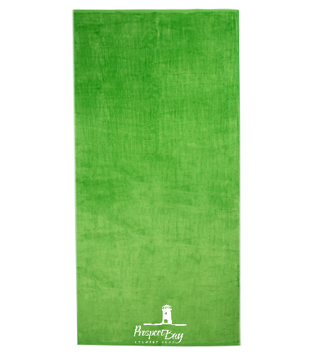 32x64 PB Towel in Lime Green - Royal Comfort Silky Velour Beach Towel 32 x 64