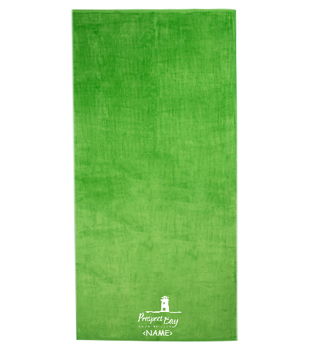 32x64' PB Towel in Lime Green w/ Personalization - Royal Comfort Silky Velour Beach Towel 32 x 64