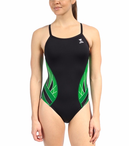 Women's Team Suit - TYR Women's Phoenix Splice Diamondfit One Piece Swimsuit