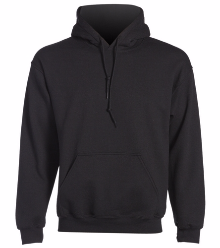 Black Hoodie back logo - SwimOutlet Heavy Blend Unisex Adult Hooded Sweatshirt