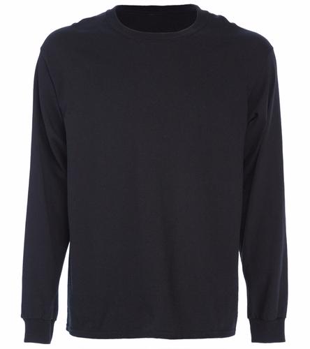 back logo - SwimOutlet Cotton Unisex Long Sleeve T-Shirt