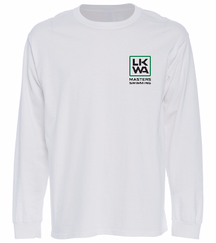 Left Chest White Long Sleeve - SwimOutlet Cotton Unisex Long Sleeve T-Shirt