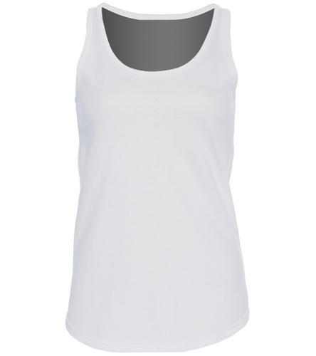 Womens White Tank - SwimOutlet Women's Cotton Racerback Tank Top