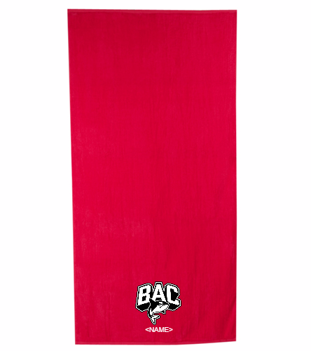 Red BAC Towel - Royal Comfort Terry Velour Beach Towel 32 X 64