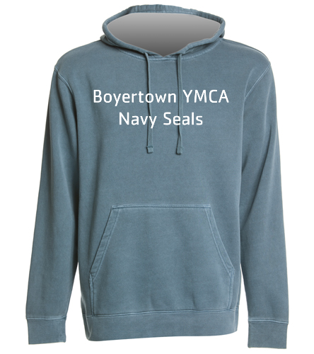 BYNS Adult Hoodie 2 - SwimOutlet Unisex Midweight Pigment Dyed Hooded Sweatshirt