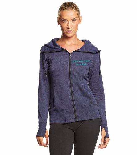 BYNS Womens Zip  - SwimOutlet New Era® Women's Tri-Blend Fleece Full-Zip Hoodie