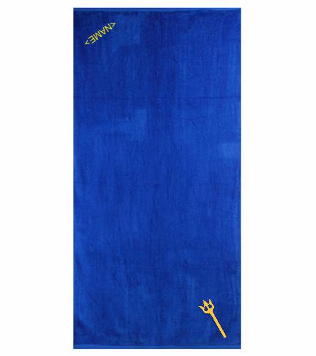 Leesburg Royal - Royal Comfort Terry Velour Beach Towel 32 X 64