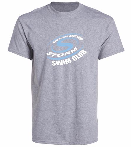 Storm Swim Gray - SwimOutlet Unisex Cotton Crew Neck T-Shirt