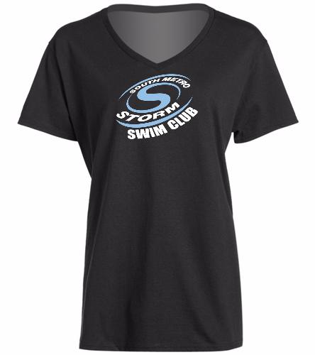 Storm Swimming  - SwimOutlet Women's Cotton V-Neck T-Shirt