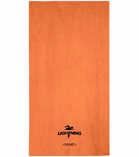 LRSA  Lightning  - Royal Comfort Terry Velour Beach Towel 32 X 64
