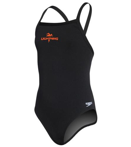 LRSA lightning - Youth Solid Endurance + Flyback Training Swimsuit