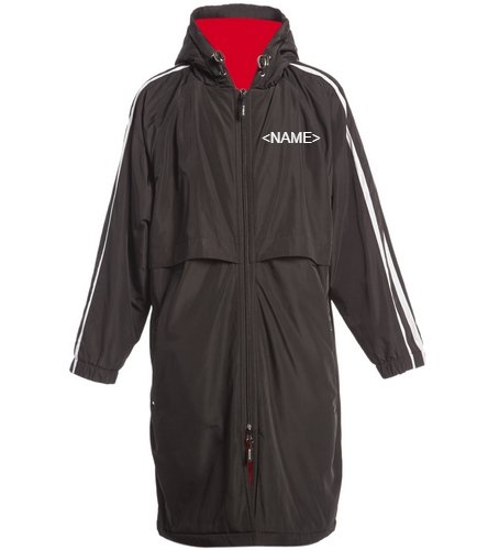 WAHOOS - Sporti Striped Comfort Fleece-Lined Swim Parka Youth