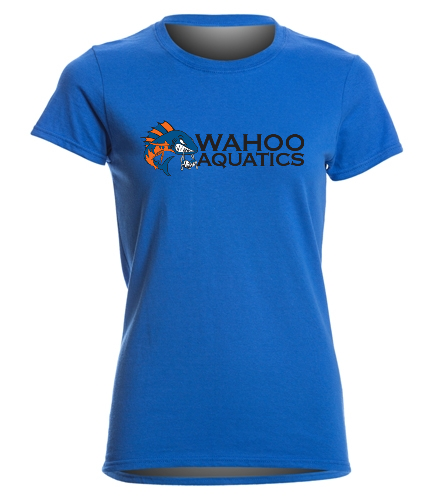 Wahoo women's royal blue cotton shirt - SwimOutlet Women's Cotton Missy Fit T-Shirt