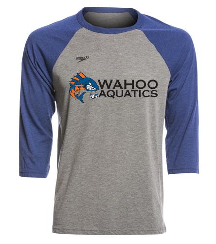 Wahoo blue unisex baseball tee - Speedo Unisex Baseball Tee Shirt