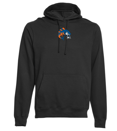 WAHOO Hoodie - Black - SwimOutlet Adult Fan Favorite Fleece Pullover Hooded Sweatshirt