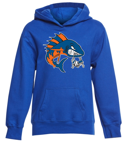 Wahoo youth royal blue hooded sweatshirt - SwimOutlet Youth Fan Favorite Fleece Pullover Hooded Sweatshirt