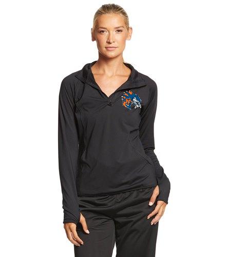 Wahoo women's half zip pullover - SwimOutlet Sport-Tek®Women's Sport-Wick®Stretch 1/2-Zip Pullover