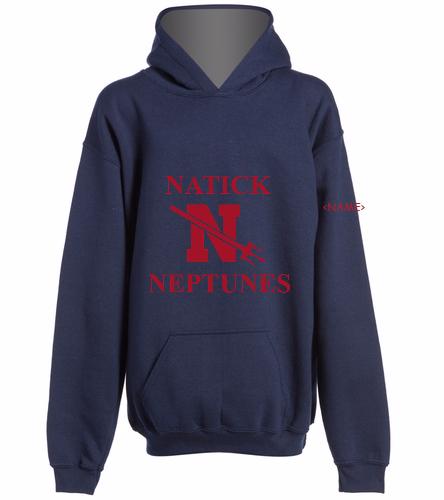 Natick Neptunes 2- - SwimOutlet Youth Heavy Blend Hooded Sweatshirt