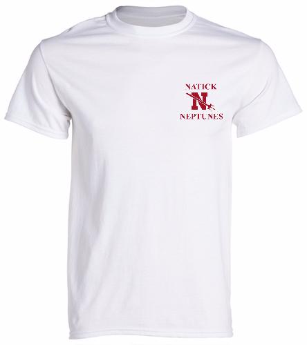 NATICK NEPTUNES2- - SwimOutlet Men's Cotton Crew Neck T-Shirt