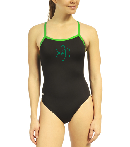 Aquatomics Womens Training Suit - Speedo Solid Endurance + Flyback Training Swimsuit