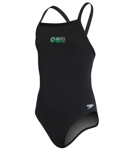 Team Suit 2 - Speedo Girls' Solid Endurance + Flyback Training Swimsuit