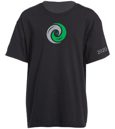 Youth Shirt 2 sided logo and year - SwimOutlet Youth Cotton Crew Neck T-Shirt