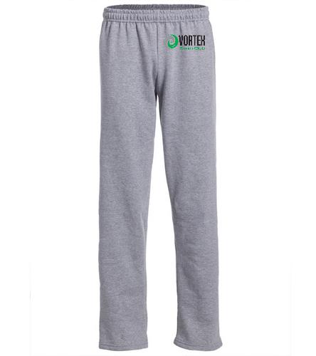 Vortex on hip 2 - SwimOutlet Heavy Blend Unisex Adult Open Bottom Sweatpants
