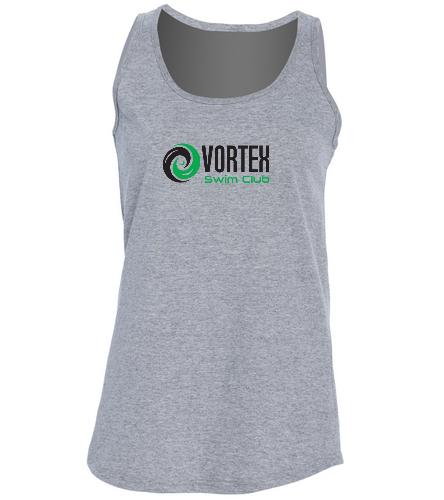 Women's Vortex Tank Top Grey - SwimOutlet Women's Cotton Racerback Tank Top