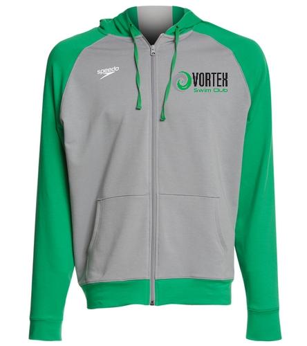 Grey and Green Hoodie Vortex - Speedo Unisex Full Zip Hoodie