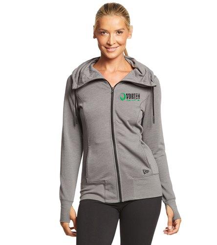 Women's Fleece Vortex - SwimOutlet New Era® Women's Tri-Blend Fleece Full-Zip Hoodie