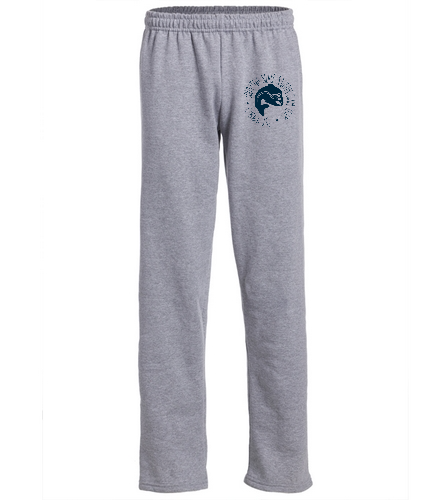 SSS - SwimOutlet Heavy Blend Unisex Adult Open Bottom Sweatpants