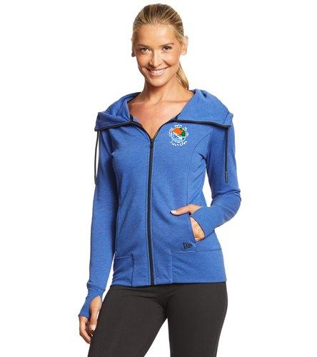 NPB Swim - SwimOutlet New Era® Women's Tri-Blend Fleece Full-Zip Hoodie